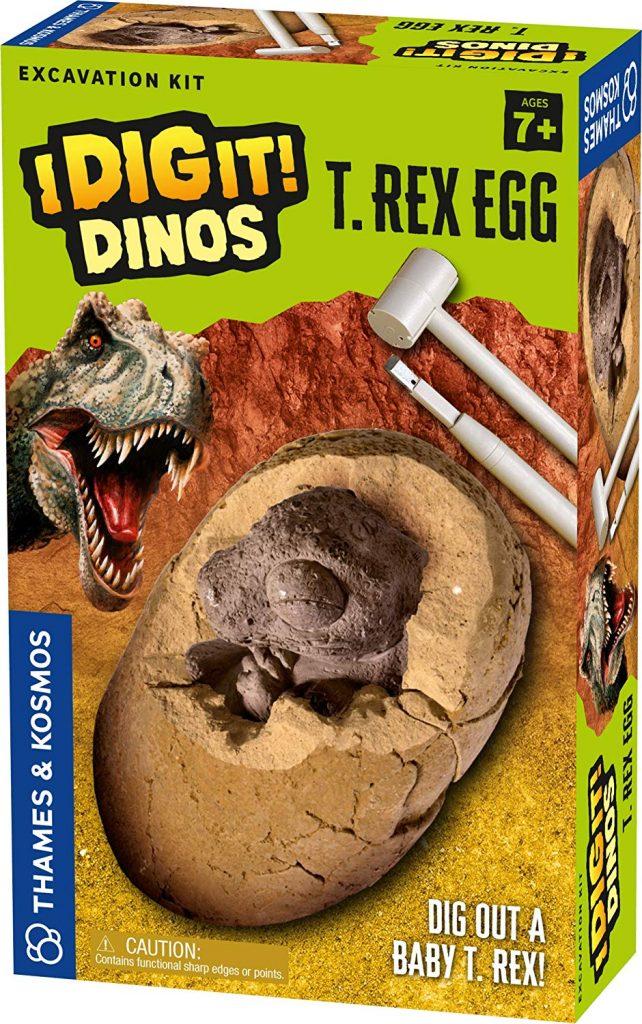 Easter basket ideas under $20 for kids: Thames Kosmos T-Rex Egg Excavation Kit
