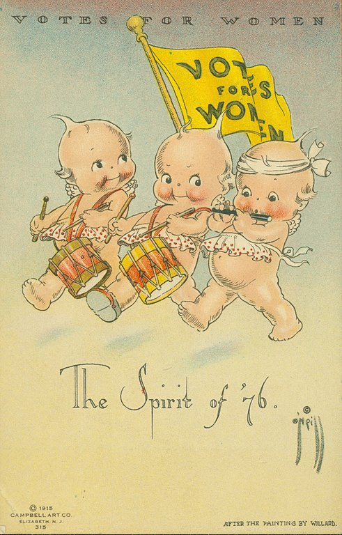 Untold women's history month stories to share with your kids: Rose O'Neil created the Kewpies and turned them into a way to promote votes for women | coolmompicks.com