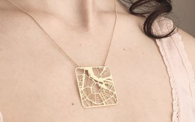 The custom map jewelry that has us thinking Mother's Day gifts (hint, hint)