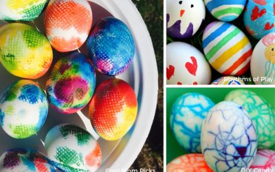 8 fun, easy Easter egg ideas for toddlers and preschoolers. Big kids shouldn't have all the fun!