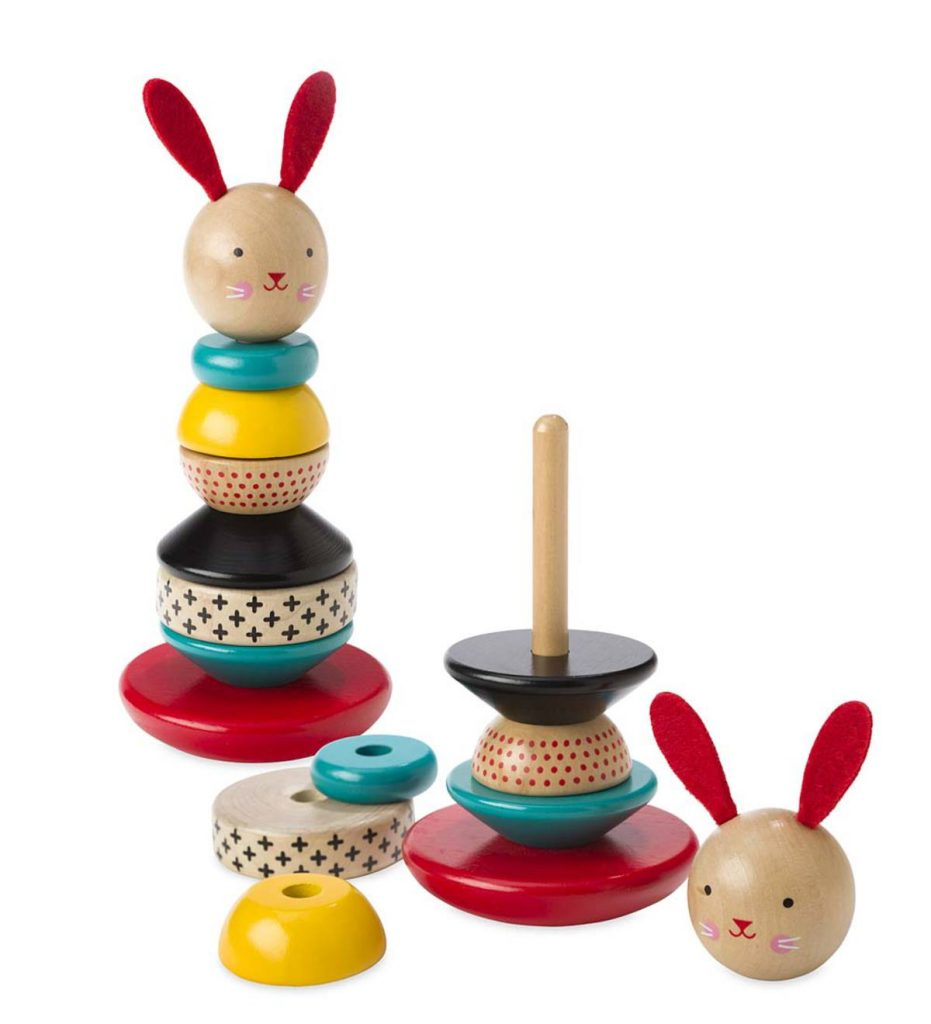Easter gifts for baby: Wooden Stacking Bunny Toy
