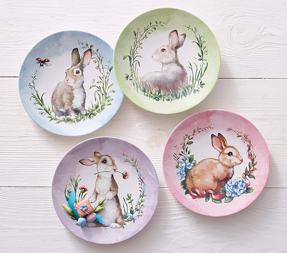 Cute Easter gifts for baby: Monique Lhuillier bunny plates at PBK