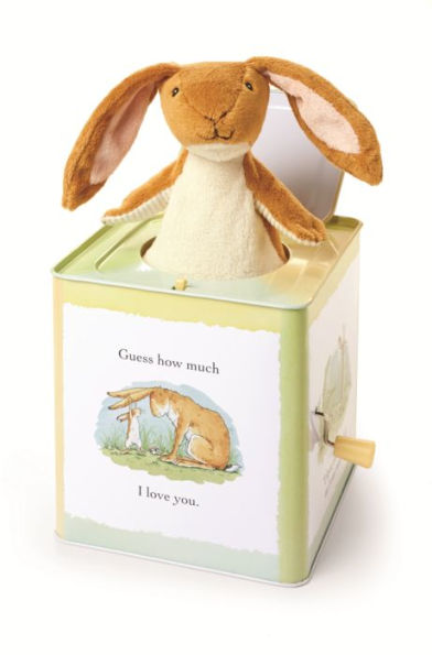"cute Easter gifts for baby: ""Guess How Much I Love You"" jack in the box featuring Nutbrown Hare (aw!)"