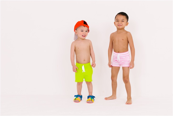 June & January's new swim collection: Cute swim shorts for boys