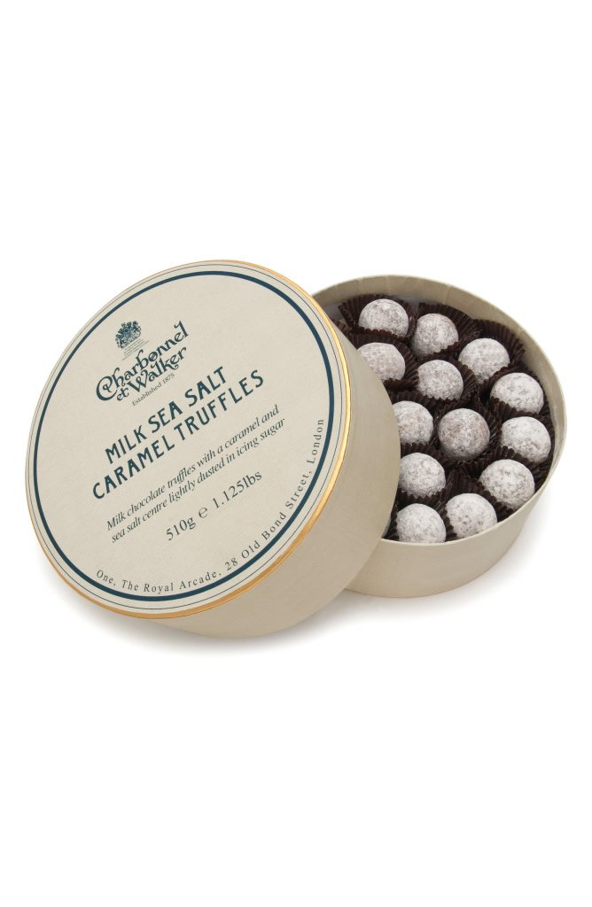 Self-care gifts for moms: Charbonnel et Walker double-layer gift set of Milk Sea Salt Caramel Truffles at Nordstrom   Mother's Day Gift Guide