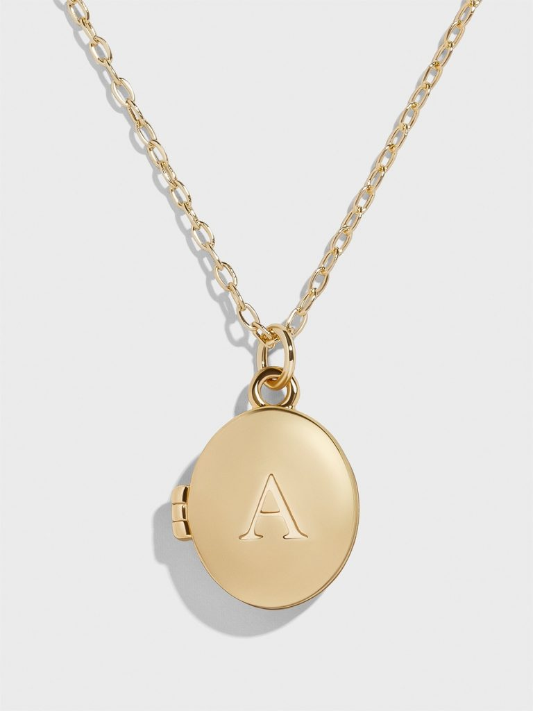 Special Mother's Day gifts under $20: Custom initial locket necklace on Etsy