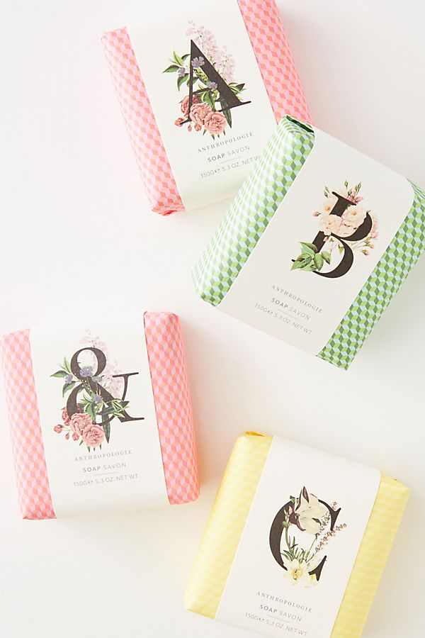 Special Mother's Day gifts under $20: Monogram bar soap from Anthropologie