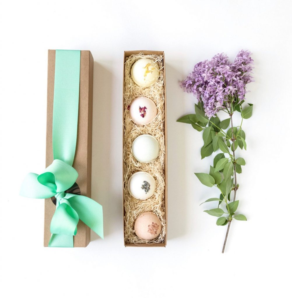 Mother's Day Gifts under $25: Luxury bath bomb set at Little Flower Soap Co