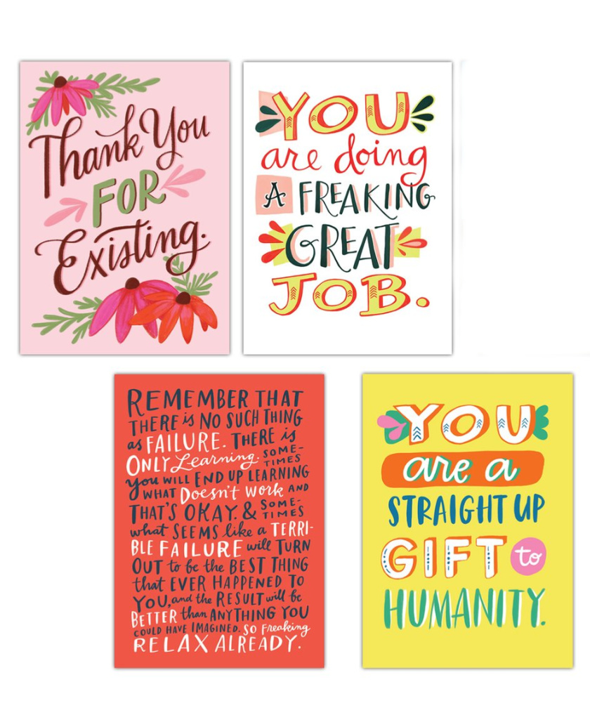 Book of pep talk postcards by Emily McDowell: Self-care gifts for mom | Mother's Day Gift Guide