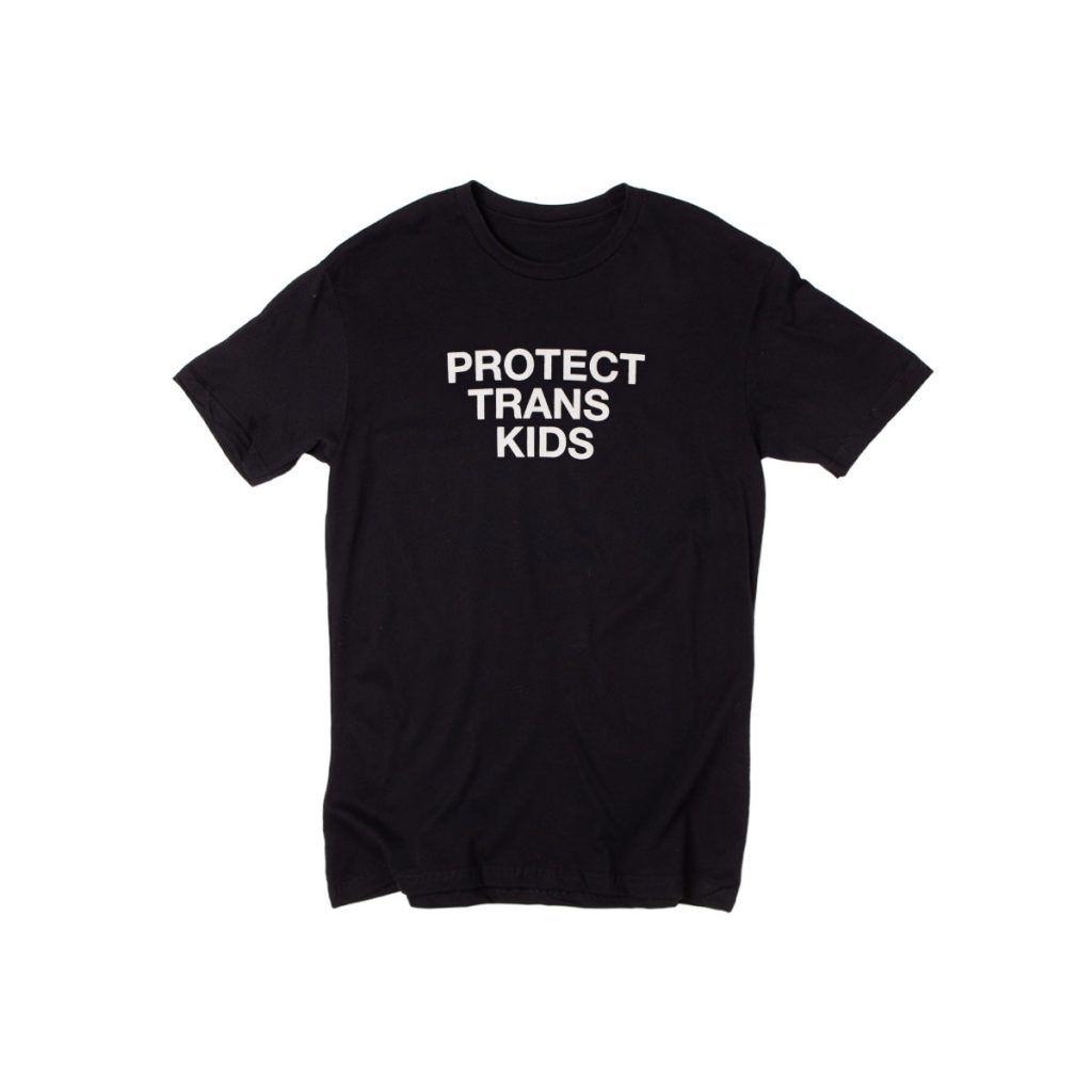 Protect Trans Kids tee from Phluid Project