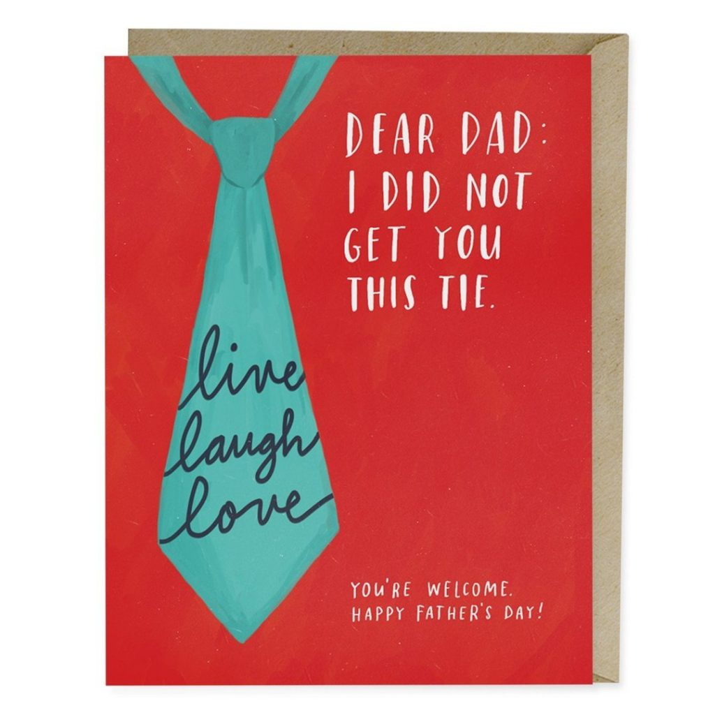 Funny Father's Day cards: Bad ties by Emily McDowell
