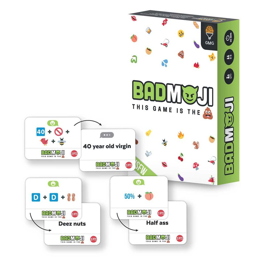 Great graduation gift ideas for high school: An adult card game like Badmoji from Grey Matters