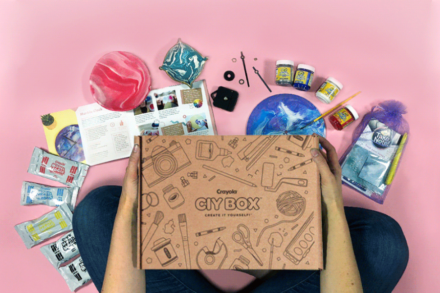 The new Crayola crafting subscription box offers impressive DIY fun!