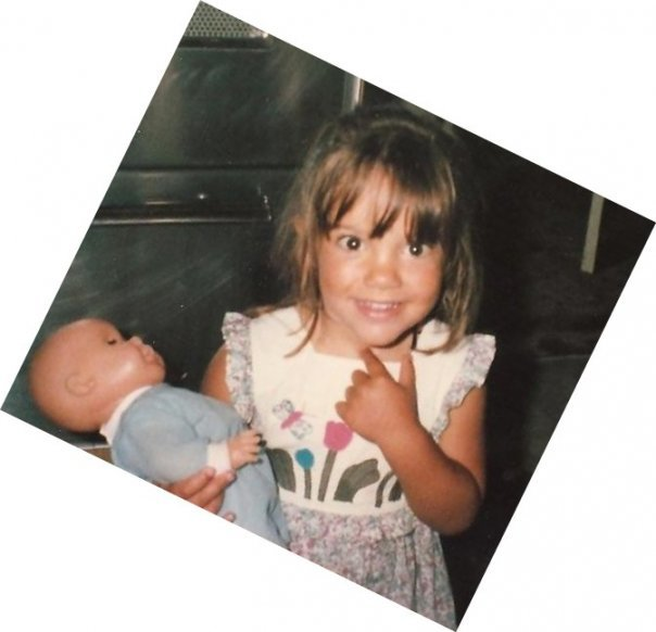 The benefits of baby dolls for kids | Here's Liza M with her Corolle baby doll a few decades ago!