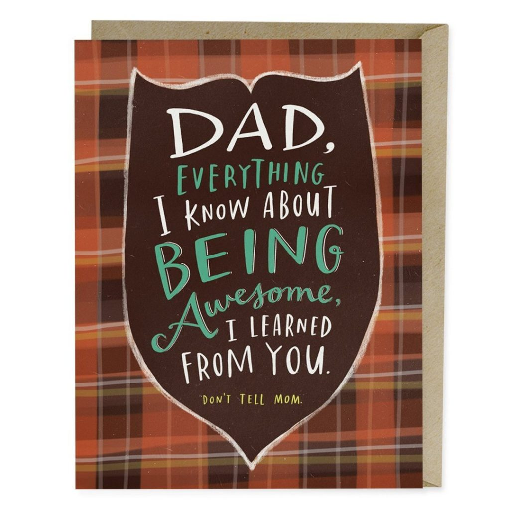Funny Father's Day cards: Don't tell mom