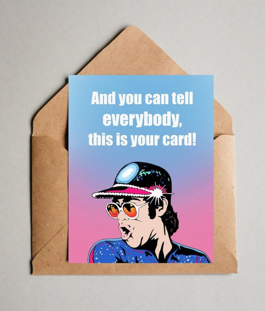 Funny Father's Day cards: Elton John