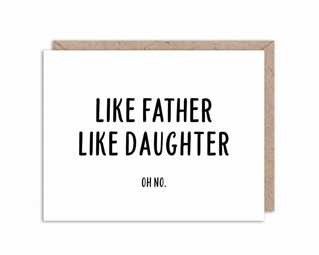 Funny Father's Day cards: Daddy-daughter card