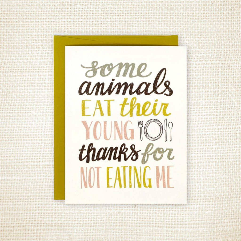 Funny Father's Day cards: Animals eat their young