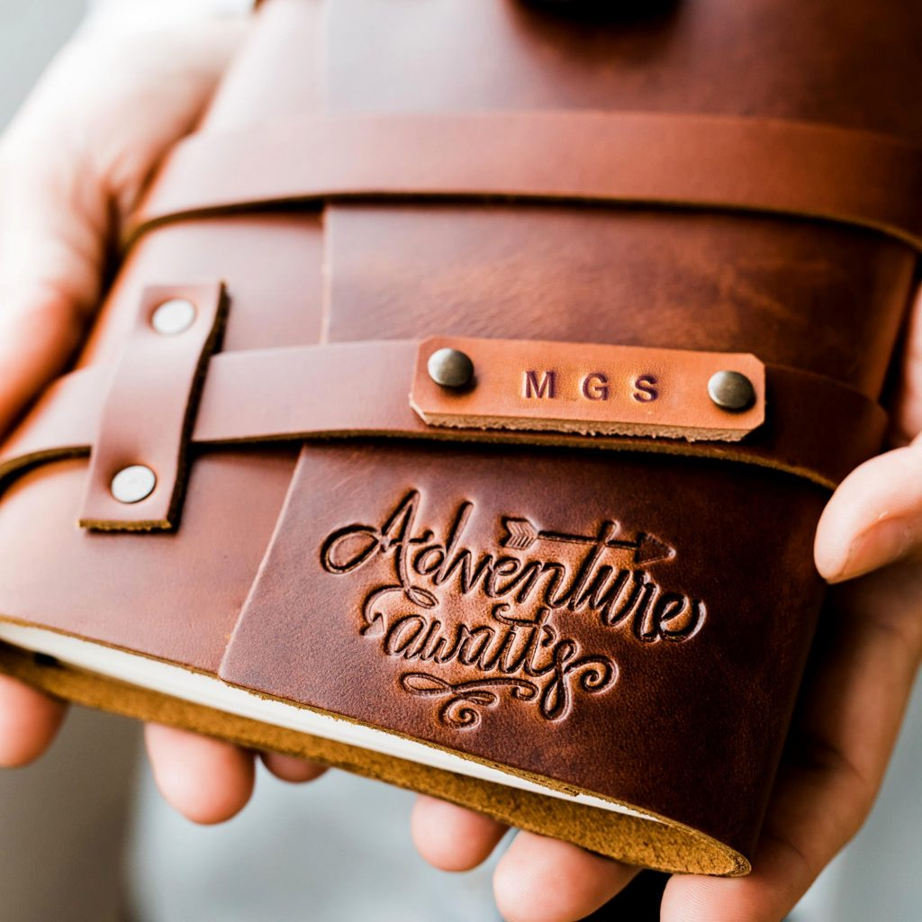 Great high school graduation gift ideas: Personalized leather journal handmade by Portland Leather Goods