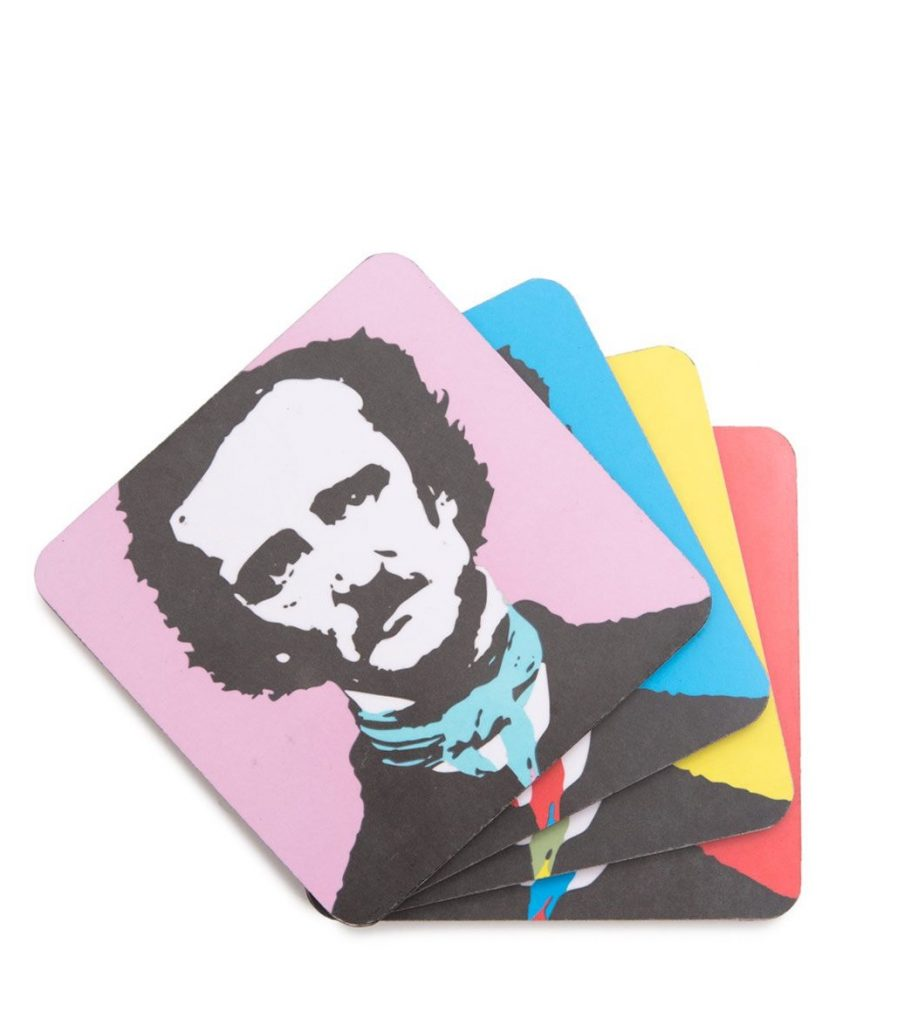 Pop Edgar Allen Poe Coaster Set : Father's Day gifts under $15