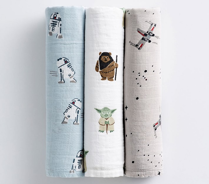 Star Wars sale at PBK: Baby muslin swaddles are so cute!