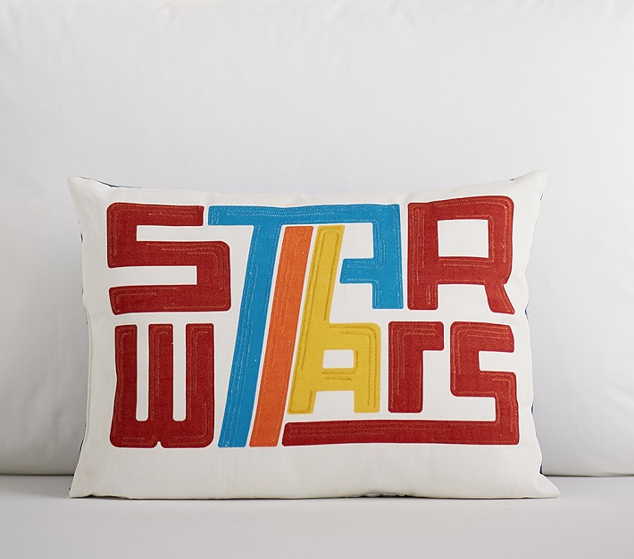 Star Wars retro logo pillow on sale at PBK