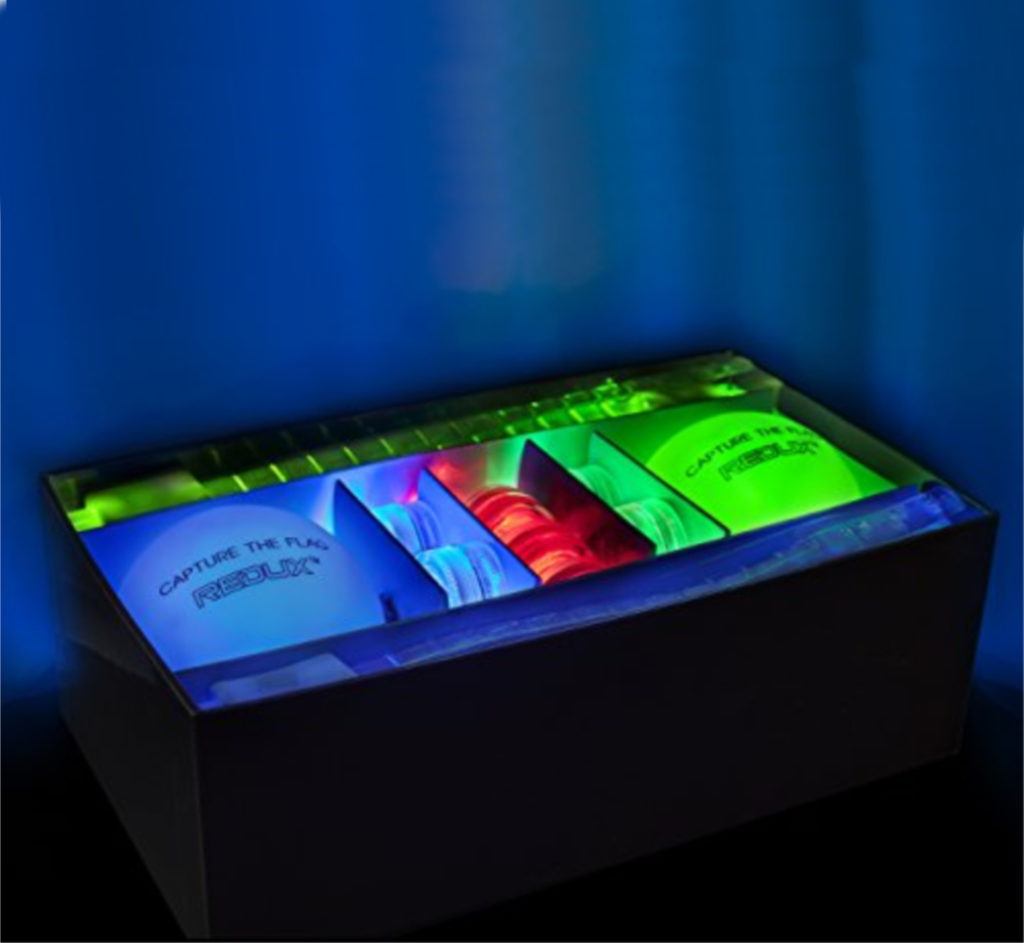 Glow in the dark capture the flag set from Redux: Cool birthday gifts for 8 year olds