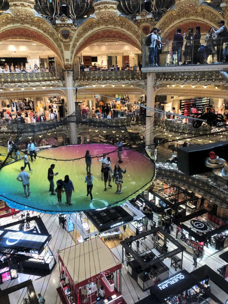 Paris with teens off the beaten path:  Galeries Lafayette