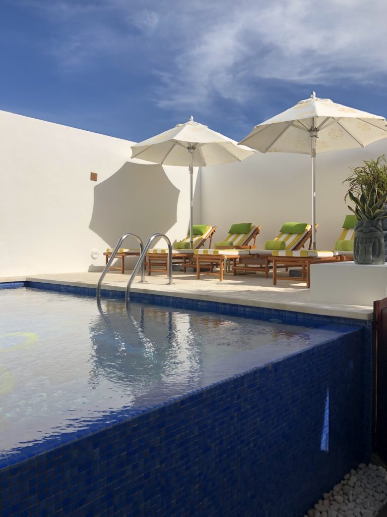 The private pool in the Pineapple Villa at the Nickelodeon Resort Punta Cana