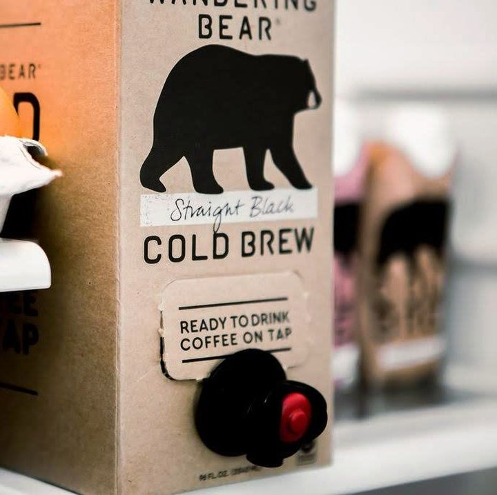 Wandering Bear Cold Brew coffee comes on tap and keeps your fridge organized too!