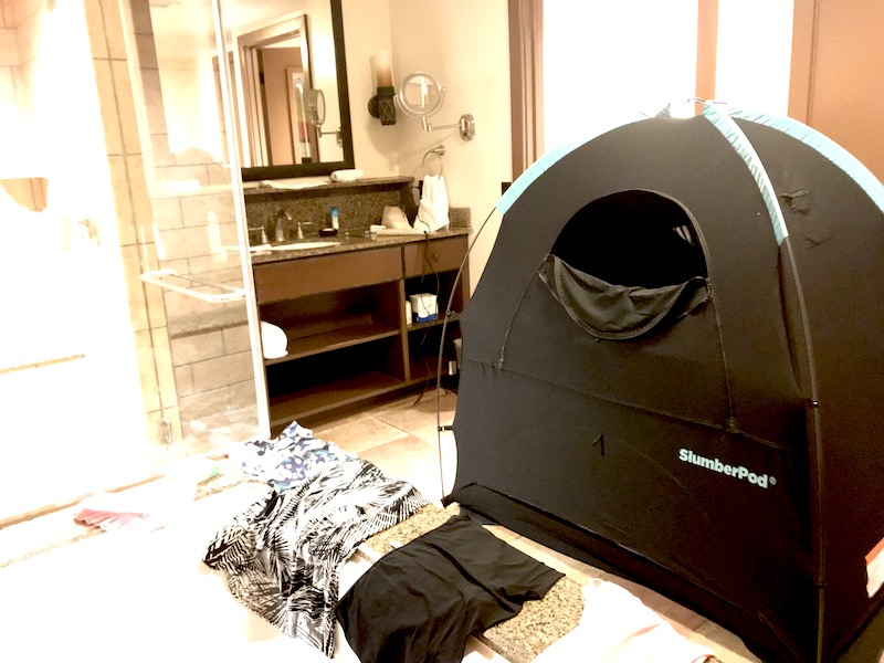 15 things to pack for Disney that you might not have thought of: A SlumberPod black-out tent | Photo (c) Kate Etue for Cool Mom Picks