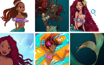 Illustrators see the beauty and meaning of Halle Bailey as Ariel and we're here for it.