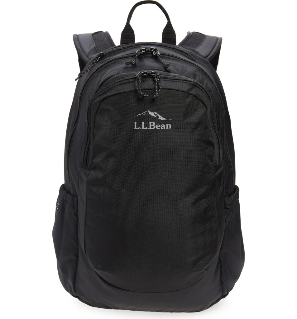 Cool backpacks for teens: all-black Comfort Carry bag by LL Bean