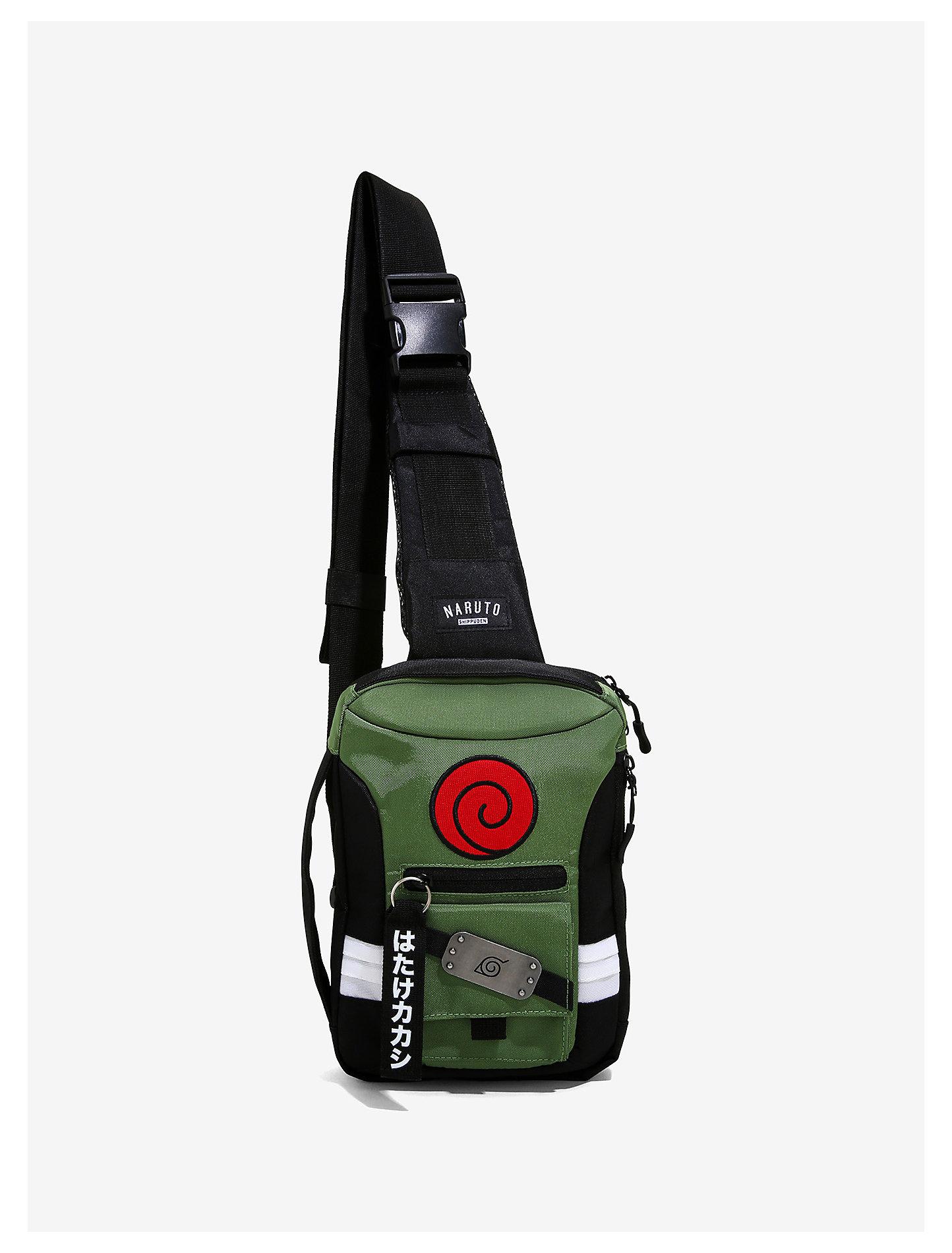 Cool backpacks for teens: Naruto sling bag at Hot Topic