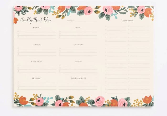 Best planners for moms: Meal Planner from Rifle Paper Co