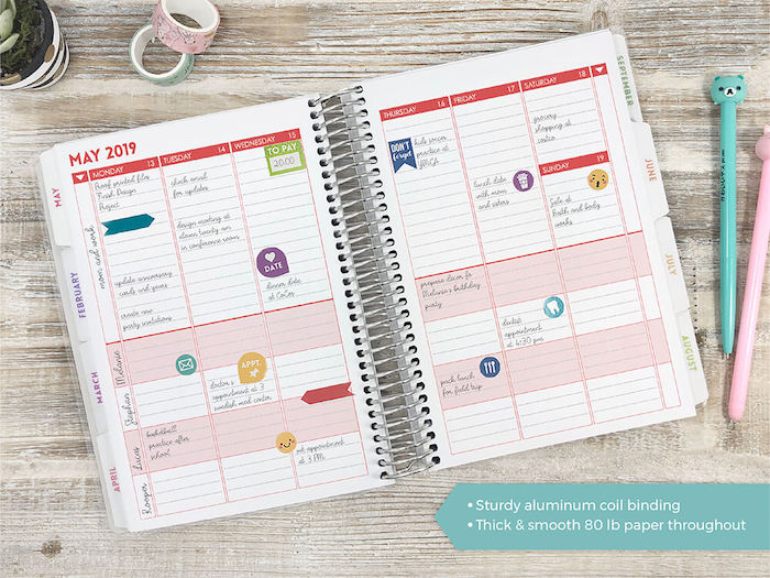 Best planners for moms: Purple Trail has the most customizable planners