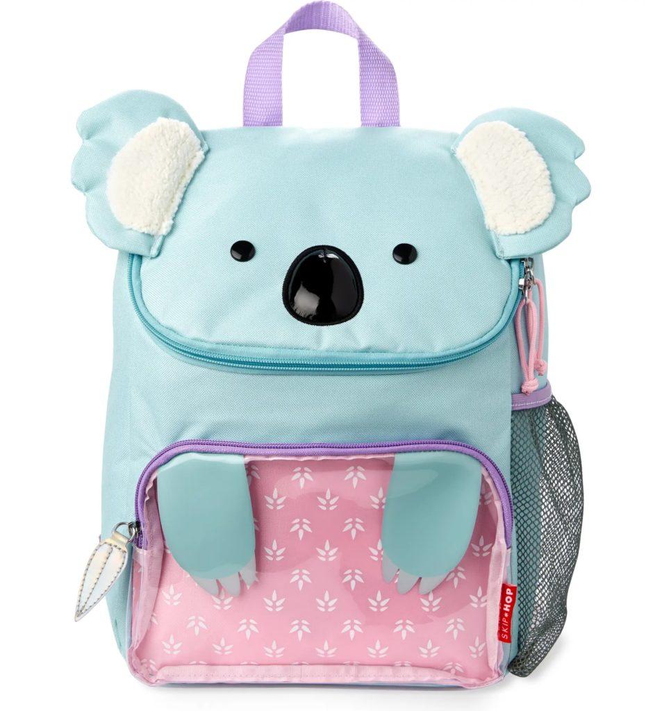 Cool backpacks for preschool and kindergarten: The Koala big kid backpack from Skip Hop