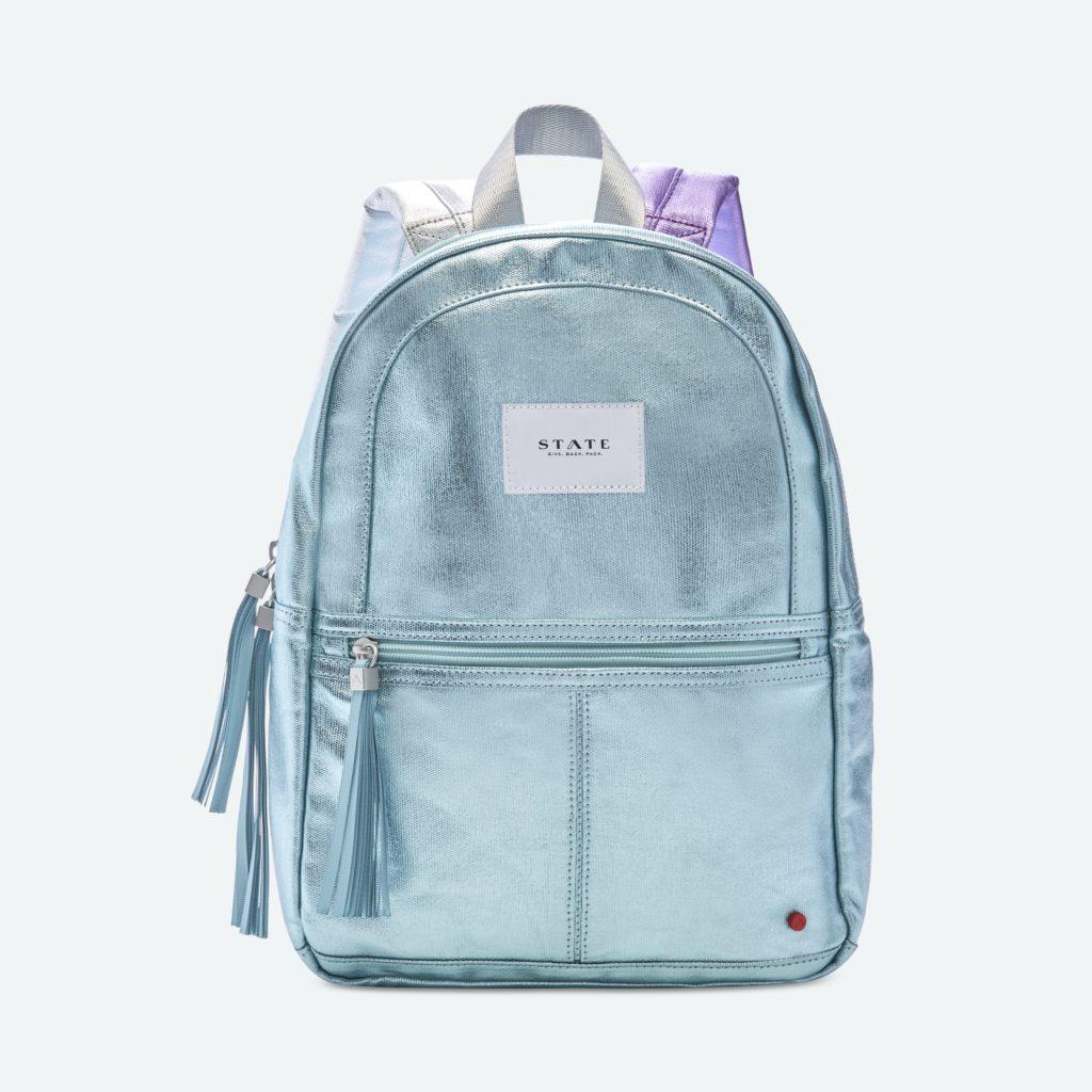 Cool backpacks for preschool and kindergarten: Mint Metallic mini bag at State