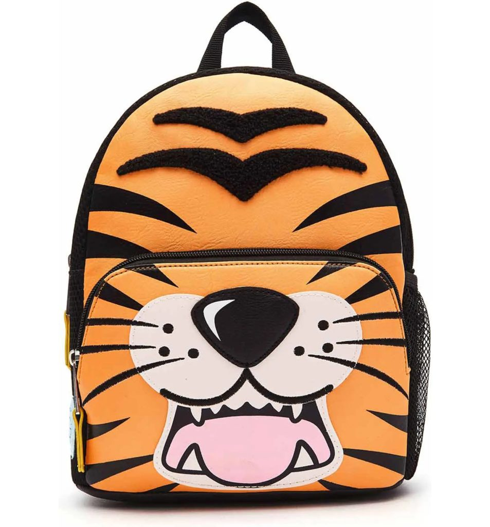 Cool backpacks for preschool and kindergarten: Tiger mini-backpack at OMG Accessories