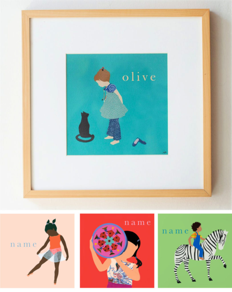 Custom name prints from Ida Pearl: Coolest first birthday gifts | cool mom picks ultimate birthday gift guide