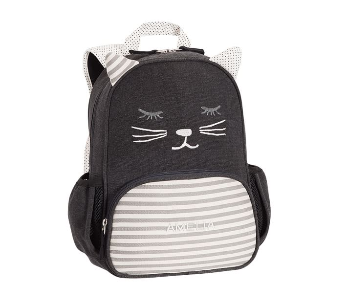 Coolest backpacks for preschool + Kindergarten: Emily +Merritt Kitty Cat Backpack | Back to School 2019 Cool Mom Picks