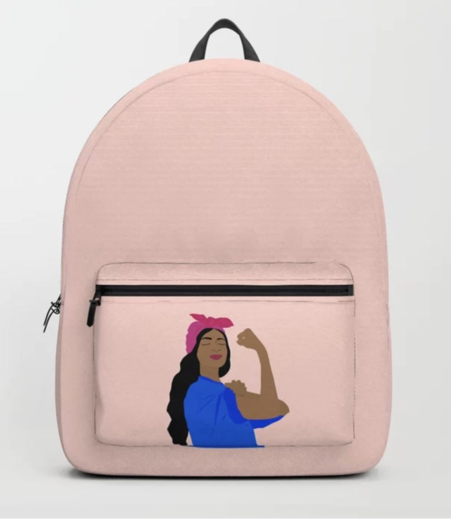 Girl Boss Backpack by Céleste Wallaert at Society 6: Coolest backpacks for grade school | Back to school 2019