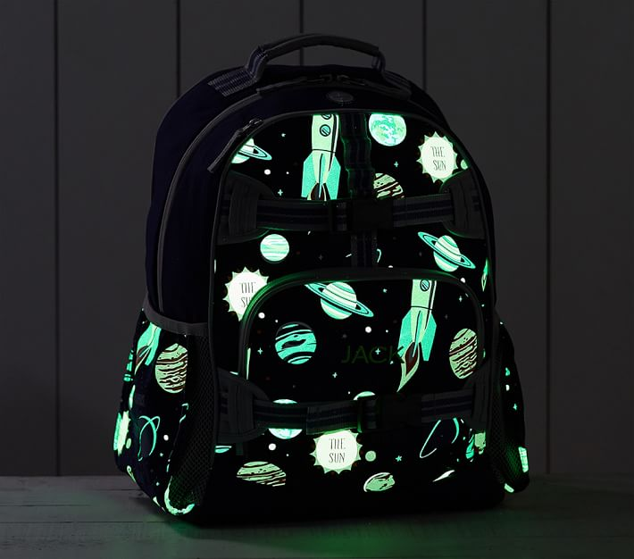 Coolest backpacks for grade school: Glow in the dark solar system bag | Back to school guide 2019 Cool Mom Picks
