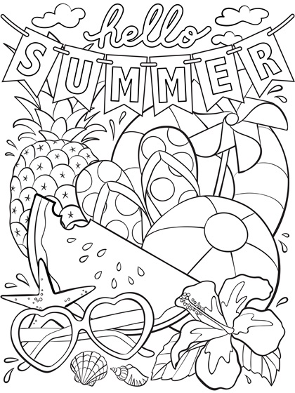 photo relating to Summer Coloring Sheets Printable referred to as 25 completely illustarted no cost summer time coloring webpages for small children