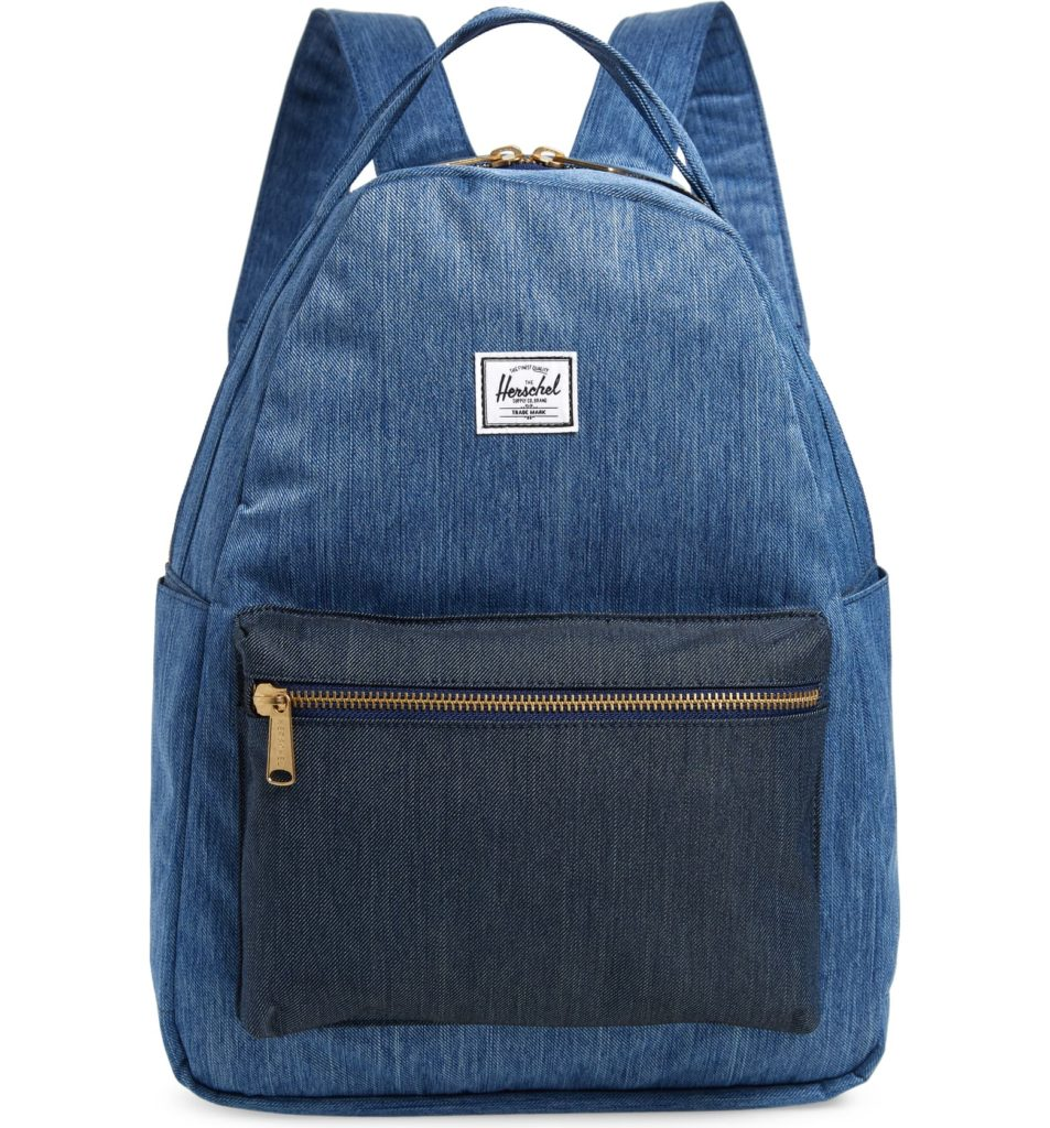 Coolest backpacks for grade school: Herschel supply faux denim | Back to school guide 2019 Cool Mom Picks