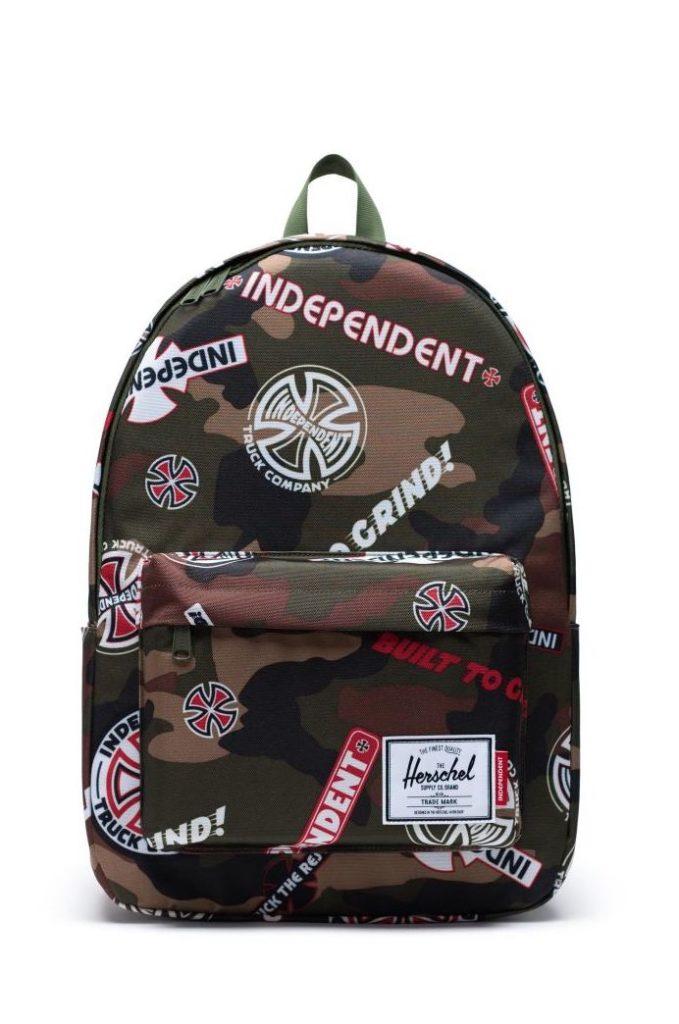 Coolest backpacks for grade school: Independent skateboard x Herschel backpapck | Back to school guide 2019 Cool Mom Picks