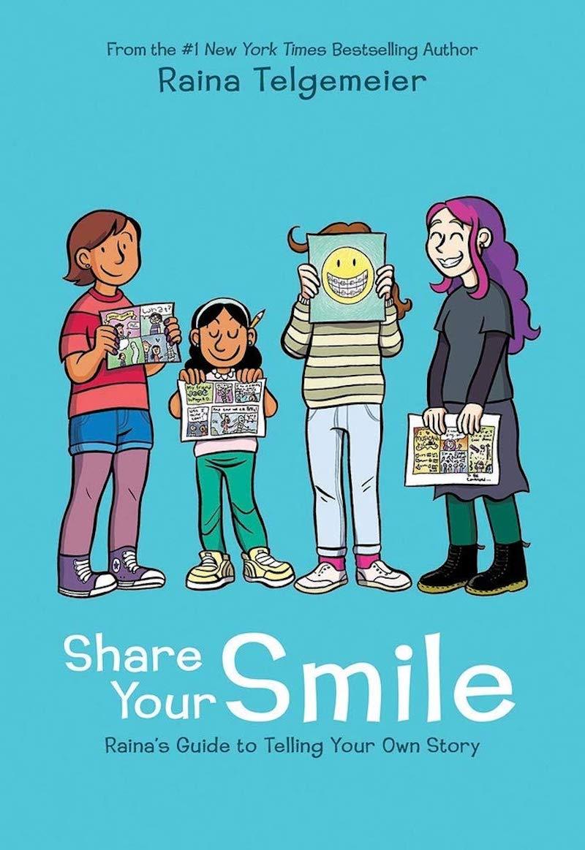 Kids' activity books for summer: Share Your Smile by Raina Telgemeier