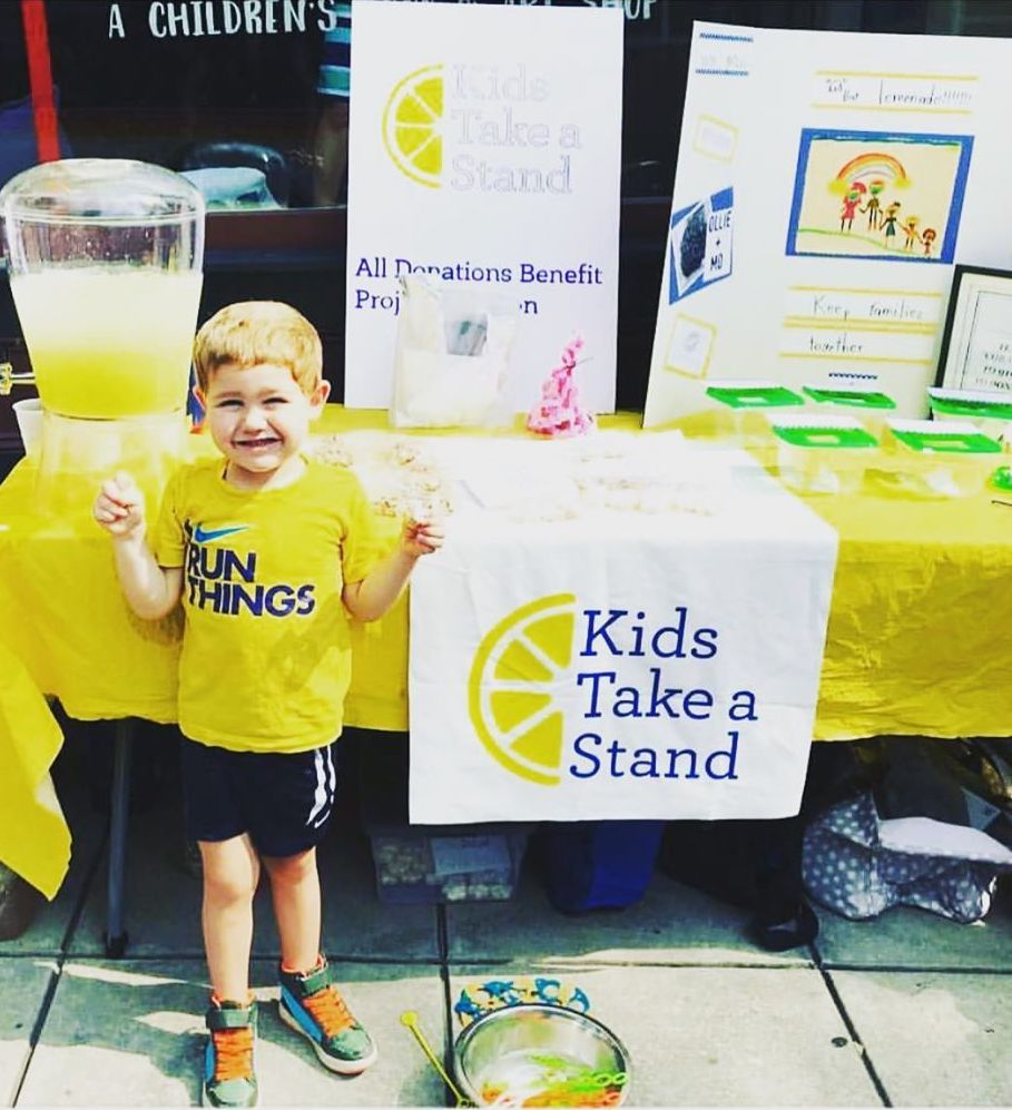 Kids Take a Stand: Lemonade stands by kids to support kids in crisis at our border | via Lawyer Moms Foundation