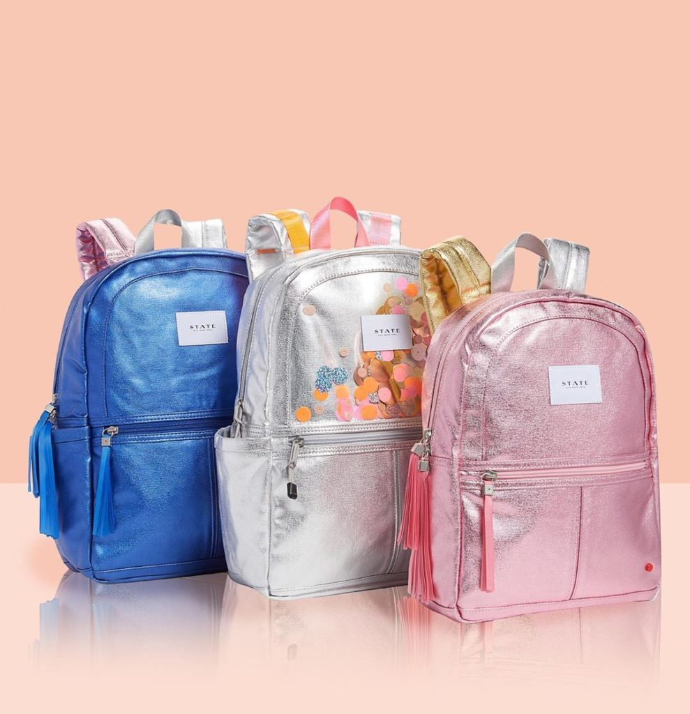 7 styles of metallic backpacks from State Bags | Cool backpacks for grade school | Back to School Guide 2019