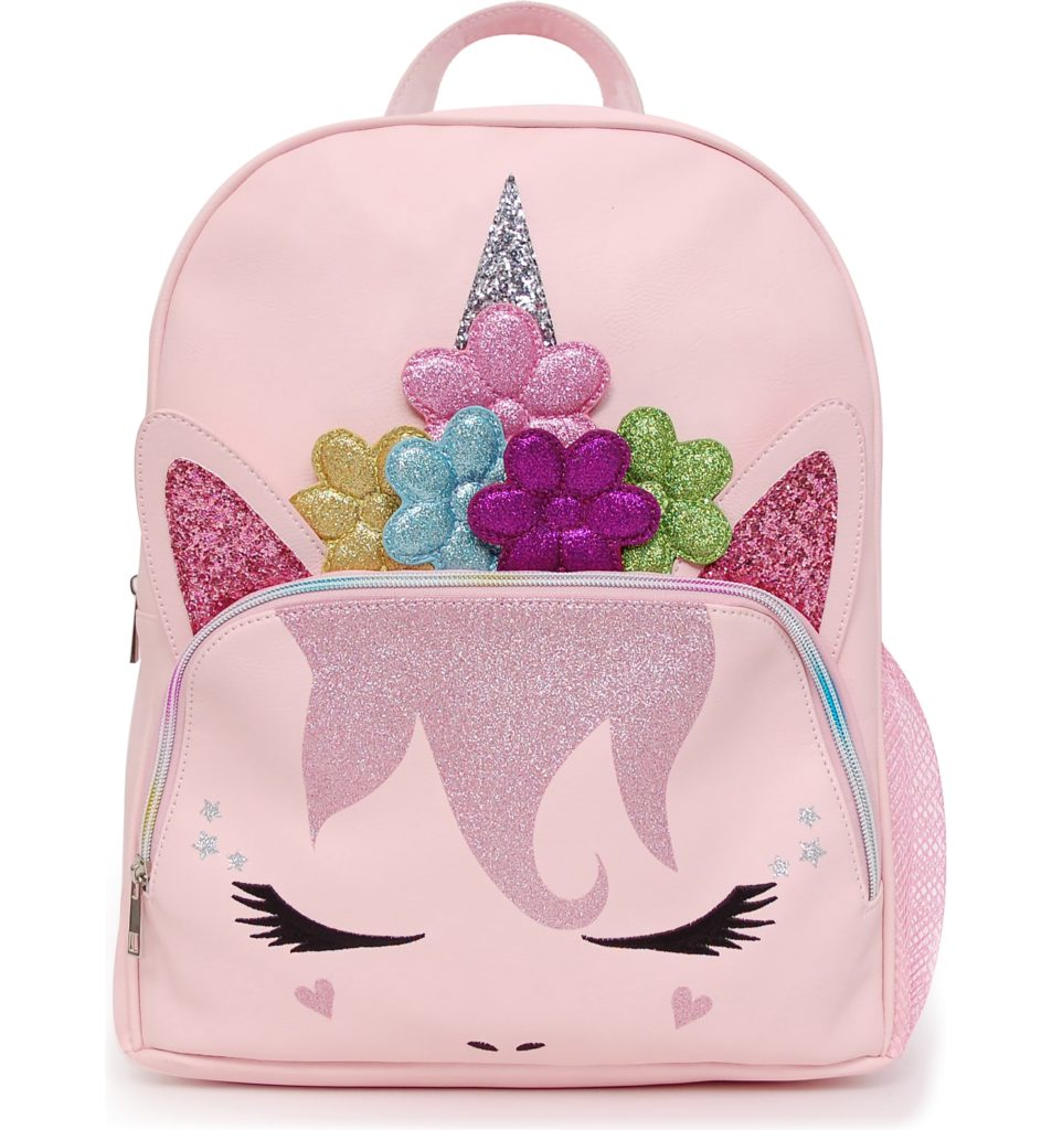 Flower crown unicorn backpack by OMG | Coolest birthday gifts for 7 year olds